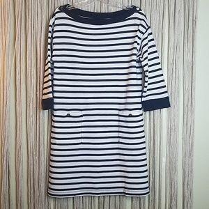 Kate Spade Boatneck Stripe Knit Dress Size L